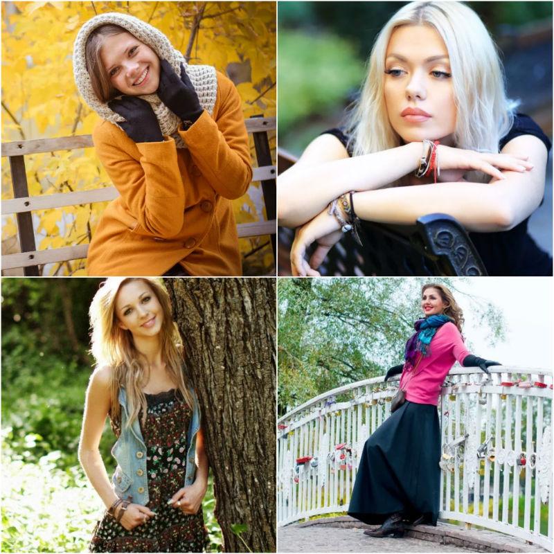 Ukrainian young women in parks